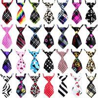 Wholesale pets clothing colors online - Pet Necktie Adjustable Size Pets Supplies Creative Design Dog Cat Tie Clothes Decoration Multi Colors jha C R