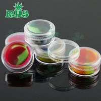 Wholesale Small Plastic Jars Lids - High quality colorful 5ml plastic container insert healthy wax small clear containers with lid silicone jars dab wax container