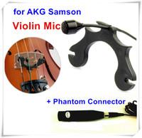 Wholesale Condenser Microphone Xlr - Professional Lapel Instrument Microfone Condenser Violin Microphone for  Samson Mic Wireless Transmitter XLR 3Pin + Phantom connector
