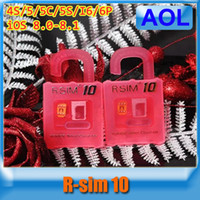 Wholesale Unlock Cdma Ios6 - Original R-SIM 10 R-SIM10 RSIM10 Unlock Card IOS6.X-8.X for iPhone 4S 5 5C 5S 6 6 Plus 3G 4G CDMA Free Shipping 1 PCS