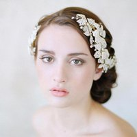 Wholesale Cheap Round Pearl Beads - Cheap Bridal Hair Accessories 2016 New Colleaction with Beads and Pearls Charming Headpieces Girl's Party Headbands Free Shipping CPA459