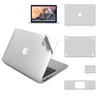 """Wholesale Macbook Air Stickers - 5 in 1 Full Body Skin Cover Protective Film Screen Protector Upper Bottom Sticker for 11"""" 12"""" 13"""" 15"""" MacBook Air Pro Retina C2609"""