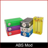 Wholesale Colorful ABS Mod E Cigarette Box with Colorful Light Vapor Box Acrylic ABS Box Mod Top In Stock DHL freeshipping