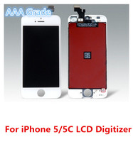 A +++ A +++ Grade DHL grátis para iphone 5 5G 5C 5S LCD Display Touch Screen Digitizer Assembly Replace Repair with Professional LCD Package