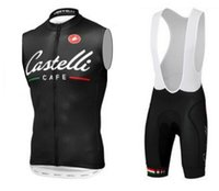 Wholesale Rapid Bike - Wholesale-The Summer Sleeveless Cycling Jerseys breathable rapid Drying clothes with Pants Bike Bicycle gel Wind Proof Sportswear pants