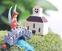 ingrosso ornamenti diy crafts-10 pz / lotto ponti artificiali Ornamenti fairy garden miniature gnome moss terrario decor mestieri della resina bonsai home decor per DIY Zakka