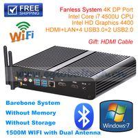 Wholesale Desktop 16gb - High-end Fanless HTPC Intel Core i7 Dual Core Mini PC Desktop Palm Computer Max 16GB DDR3 RAM 300M WIFI Dual Antenna Bluetooth4.0 USB Dongle