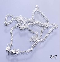 Wholesale 24 Inch Bead Chain - 925 Sterling Silver 24 inch Necklace Chain Solid Bead Women Girl Beauty Snake Necklace Collar with Lobster Clasp no Pendant Gift SH7-24inch