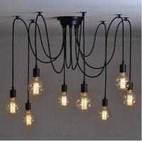ampoule edison classique achat en gros de-lustre classique E27 araignée lampe pendentif ampoule titulaire groupe Edison diy lampes d'éclairage lanternes accessoires fil messenger Livraison gratuite