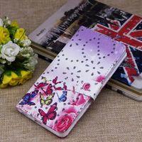 Wholesale Diamond Xperia - Fashion diamond Rhinestone floral flower wallet card holder flip case cover skin shell for Sony Xperia Z3 Z4 M5 case