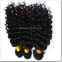 Wholesale 5a Indian Curly Weave - 5A Grade Malaysian human virgin hair Deep curly Hair Wefts 3Pcs Deep Wave Malaysian Virgin Hair Weave