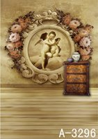 other painted wood cabinets - 6 feet feet Wood cabinets Flower Angel mural backdrop photography mini backgrounds studio backgrounds