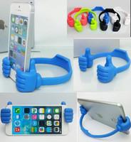 ipad için duruyor toptan satış-Moda Mini Plastik TAMAM Standı Başparmak Tasarım Evrensel Taşınabilir Telefon Standı Tutucu Dağı iPhone 6 Için Artı Samsung Galaxy S6 S5 HTC iPad Hava 2