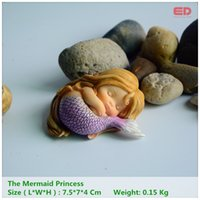 ingrosso miniature fantasy-Collezione Everyday Garden Fantasy Figurine Opere d'arte Home Decor Regali Resina Miniatura Sirena Principessa Statua Fata