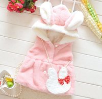 Wholesale Waistcoats For Infants - baby girls clothing girls winter fall coats children animal design waistcoat infant pink fleece fur vest coat for kids girl boutique outwear