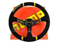 Wholesale Drifting Leather - New Arrival: 350mm MOMO Deep Corn Drifting Steering Wheel   (Suede Leather)in stock and ready to ship