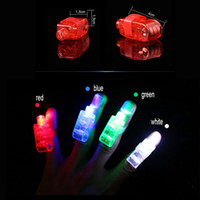 Wholesale Cheaper Toys For Christmas - 100pcs lot Cheaper Flashing Fingers Beams Party Led fingers toys Novelty items for kids Promotional gifts for event Led lighted toys DHL