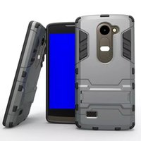 Wholesale Nexus Skin Stand - For LG Nexus 5 5X Leon C40 4G LTE H340N H324 Shockproof Kickstand Armor 2 in 1 Hybrid Hard PC TPU Phone Case Stand Ironman Skin Cover Luxury