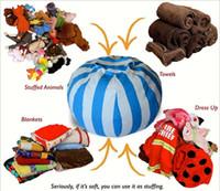 kinderzimmer stühle großhandel-Kinder Lagerung Sitzsack 60cm 33 Farben Plüschtiere Sitzsack Stuhl Gefüllte Tier Zimmer Mats Tragbare Kleidung Aufbewahrungstasche 10 Stück YYA813