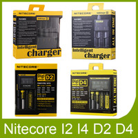 Wholesale Battery Charger Lcd Display - Authentic Nitecore I2 I4 I8 D2 D4 Universal Intellicharger LCD Display Charger for 18650 18350 18500 14500 Li-on Battery 100% Original