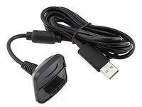 kit de carga de xbox al por mayor-Al por mayor-Nuevo cargador de carga USB negro Cable de carga rápida Cable Kit de cable para Microsoft para Xbox 360 Controlador inalámbrico Consola # F1030