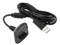kit de carga xbox venda por atacado-Atacado-New Black USB Charger Charger Quick Charging Cable Cord Kit de chumbo para microsoft para xbox 360 console controlador sem fio # f1030