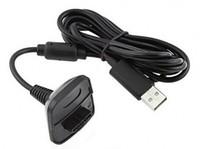 xbox kontrolörü kurşun toptan satış-Toptan-Yeni Siyah USB Şarj Şarj Hızlı Şarj Kablosu kablosu Kurşun Kiti Microsoft Xbox 360 Kablosuz Denetleyici Konsolu # F1030 Için