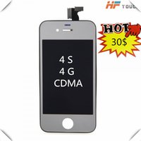 Espejo Colorido Hight Quality Display LCD Touch Digitizer con Frame Assembly Replacement para iPhone 4 4G 4S CDMA lcd SCreen Envío gratis