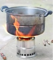 Wholesale Multi Fuel Gas Stove - Wholesale-Multi-fuel stove manual split outdoor picnic stainless steel stove camping wood stove portable gas stove