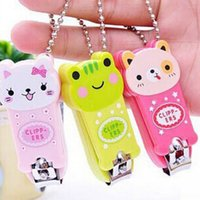 Wholesale Nail Clipper Animal - Cartoon Baby Nail Clipper New Cute Children's Nail Care Cutlery Scissors Animal Infant Nail Clippers with Keychain