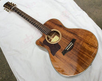 Wholesale Deluxe Acoustic Guitar - Free Shipping Deluxe Model koa K24ce Acoustic Electric Guitar Fishman Left Handed good Quality 151118