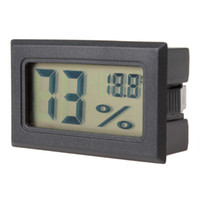 Wholesale Digital Thermostats - Mini Black Digital LCD Embedded Thermometer & Hygrometer Temperature Humidity Meter HHC_237