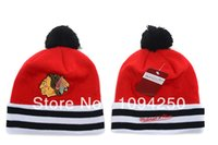 Wholesale Nhl Snapback Hats Wholesale - Wholesale-NHL New 2015 Hip-Hop Unisex Brand Women's Winter knit Cotton wool Hats Snapback caps beanies era Free Shipping