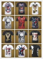 Wholesale Palace Crystals - Luxury Brand Summer p*p skulls t shirts for men Canada Fashion Short Sleeve qp Men's T-Shirts Multicolor palace hip pop Mountain t shirt