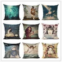 Stile romantico romantico estetico donna Cuscino Decorativo Divano Throw Pillow Car Chair Home Decor federa almofadas