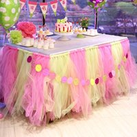 Wholesale Tulle Chair Covers - Colorful Wedding Table Tulle Decorations 100cm *80cm Custom Made Wedding Party Formal Event Wedding Suppliers Chair cover Ribbons