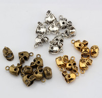 diy fußballschmuck großhandel-Heiß ! 150pcs Antikes Silber / Antique Bronze / Antik Gold 3D Kleine Football Helm Charms Anhänger DIY Schmuck 13 x11mm