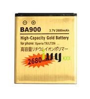 Wholesale Tx Lt29i - 2680mAh BA900 Gold Replacement Battery For TX GX LT30 LT29i J ST26i L S36h C2104 C2105 Batteries Batteria Batterij