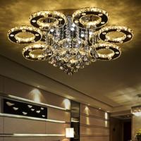 ingrosso apparecchi di illuminazione lussuosi-Morden lussuoso arte decorativa casa in stile moderno ristorante K9 lampadario di cristallo lustro lampadario illuminazione a soffitto lampade a luce