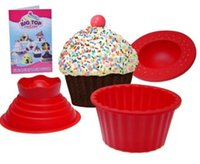 Wholesale Big Top Cupcake Cake - Silicone Giant Cupcake Muffin Mould Big top bake cake Christmas party Baking Set