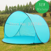 Wholesale Fold Up Tent - Wholesale-5 pieces   lot New 2016 Automatic Pop Up 1-2 Person Beach Tents Outdoor Camping Tourism Folding Awnings Fishing Tent Sun Shelter