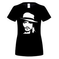 Summer New Johnny Depp T Shirt Fashion с коротким рукавом O-Neck Cotton woMen Футболка woMan Boy Tees Top OT-204