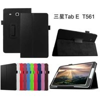 Wholesale Folding Tabs - Protective COVER For Samsung Tab E 9.6 T560 leather cover case funda For Samsung GALAXY Tab E 9.6 T560 SM-T560 tablet case