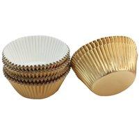papel de parede cupcakes venda por atacado-300 Pcs Cupcake Paper DIY Bolo Muffin Cups de Cozimento Caso Forros de Cozinha Casa Acessórios de Cozimento Novo