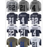9da852229 Tennis Men Short cowboys Jerseys Dallas 4 Dak Prescott 21 Ezekiel Elliott  jersey 82 Jason Witte