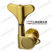 Wholesale Gold Tuning Heads - Gold-plating electric bass string tuning keys full enclosed violin head knobs string axles upper string winders tuning peg