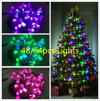 Wholesale hair color uk resale online - Christmas Tree Decorative Lamp Tree String Lights Changing Color US UK EU AU Festive Party Holiday Lighting