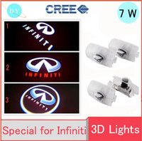 Wholesale Car Logo Led Projection - Car Projection LED Projector Door Shadow Light Infiniti 1 Min Easy Installation HD Car Door Logo Pack of 2 Courtesy Laser external light