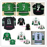 Wholesale north blue - North Dakota University Sioux Hockey Jerseys 7 TJ Oshie 9 Jonathan Toews 11 Zach Parise Fighting Sioux DAKOTA Blank College Hockey Jerseys
