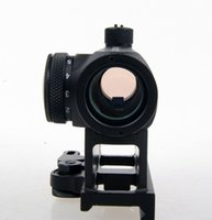 Wholesale Gun Telescopic Sights - Mini T-1 1X Telescopic Sight with Red Green Dot and Quick Release 20mm Weaver Rail Mount For Hunting Air Gun Rifle